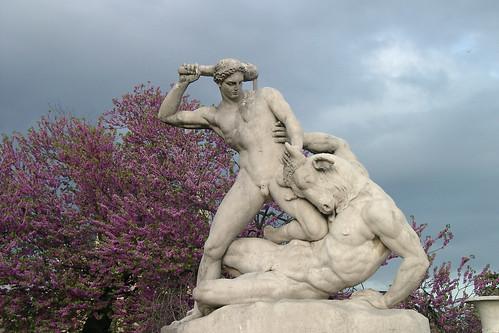 Theseus kämpft mit dem Minotaurus