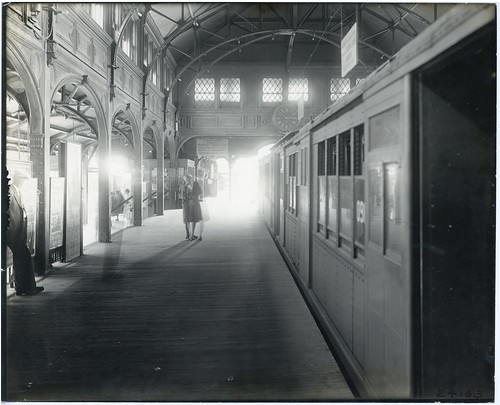 Northbound platform at Dudley Station | by Boston City Archives