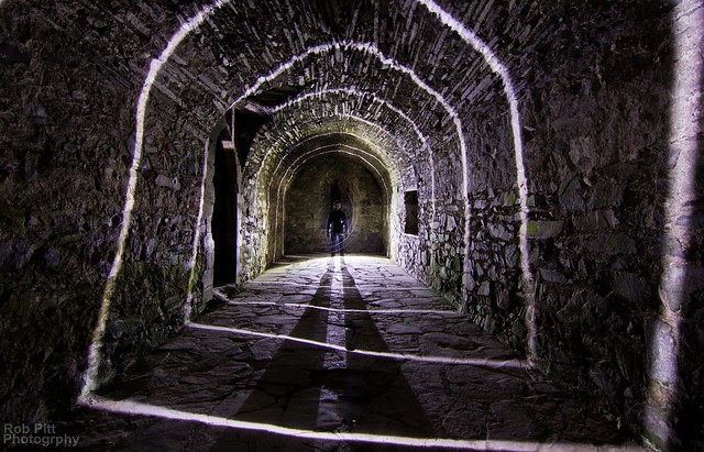 Valle Crucis Abbey Light Painting