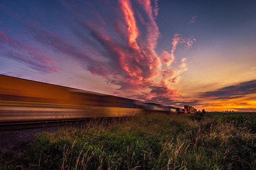 longexposure sunset sky landscape motionblur boundarybay freighttrain deltabc sonya65