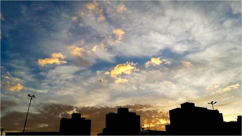 sky cloud silhouette sunrise nuvem ceu amanhecer silhueta galaxys4