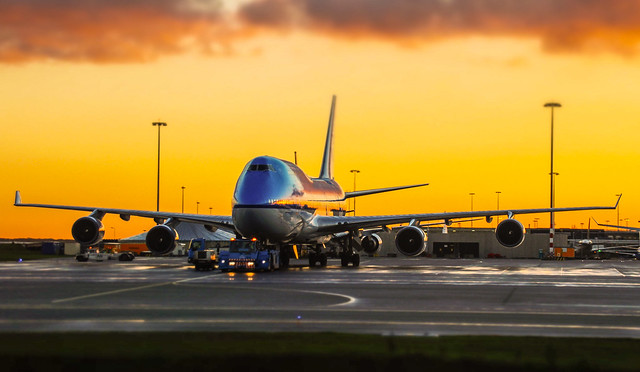 KLM 747 Sunrise