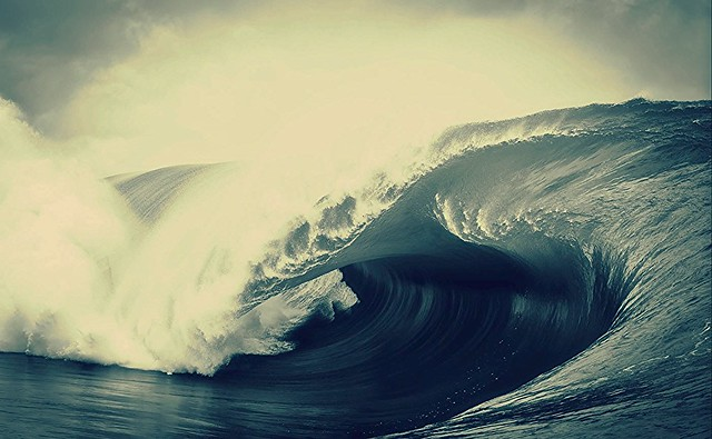 au creux de la vagues