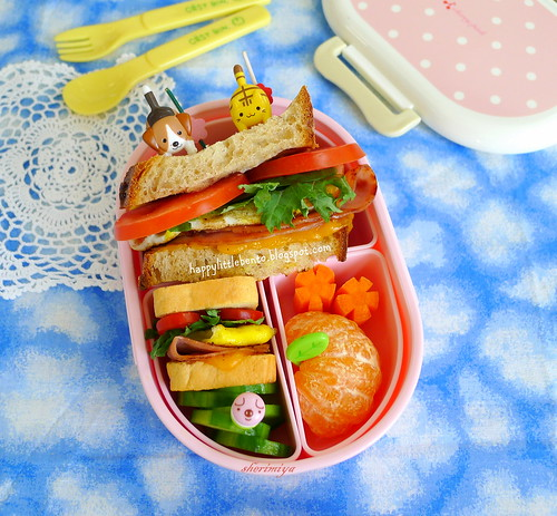 Big and Small Ham & Cheese Sandwich Bento | by sherimiya ♥