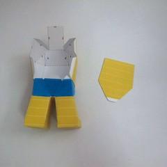 วิธีทำของเล่นโมเดลกระดาษ วูฟเวอรีน (Chibi Wolverine Papercraft Model) 030