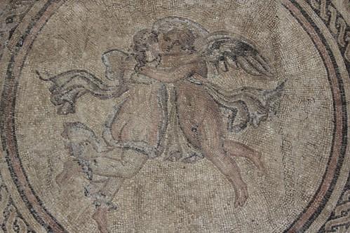Roman mosaic in Alcázar de los Reyes Cristianos