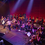 Wed, 04/03/2015 - 2:04pm - Matthew E. White's 'Fresh Blood' release show with orchestra at BRIC Arts Media House in Brooklyn. Hosted by Carmel Holt. Photo by Gus Philippas