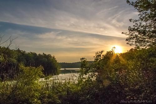 smack53 sunset evening eveningsky sky clouds sun sunshine paintedsky water lake reeds reflections waywayandastatepark vernon newjersey newjerseystatepark canon powershot g12 canonpowershotg12 summer summertime