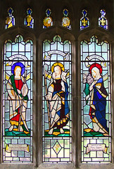 Christ the Good Shepherd flanked by St John and the Blessed Virgin