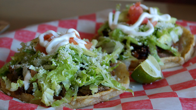 Sopes from Las 3 Lulu's Tacos in Des Moines, Iowa