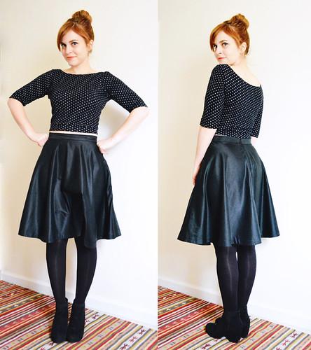 Moneta Crop Top + 3/4 Circle Skirt   by MissMake