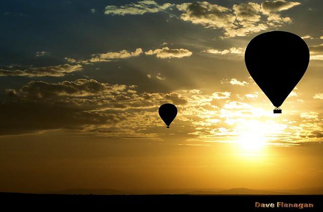 Dawn. Up, up and away. Maasai Mara. Kenya.