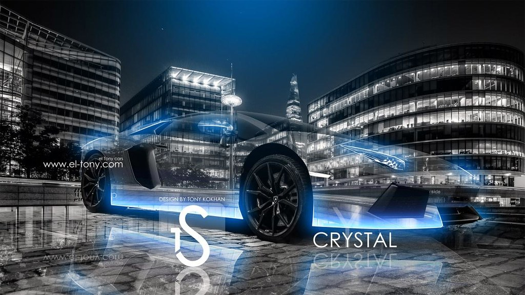Lamborghini Aventador Crystal Blue Neon Car City Hd Wallpa Flickr