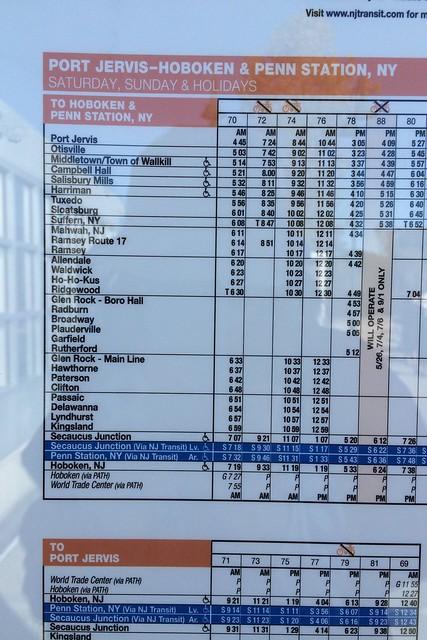 日, 2014-10-12 15:57 - Harriman駅時刻表