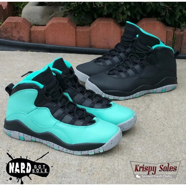 classic fit 8ec1a 0b19a Which would you take: Custom Air Jordan 10 'Tiffany' or 'B ...