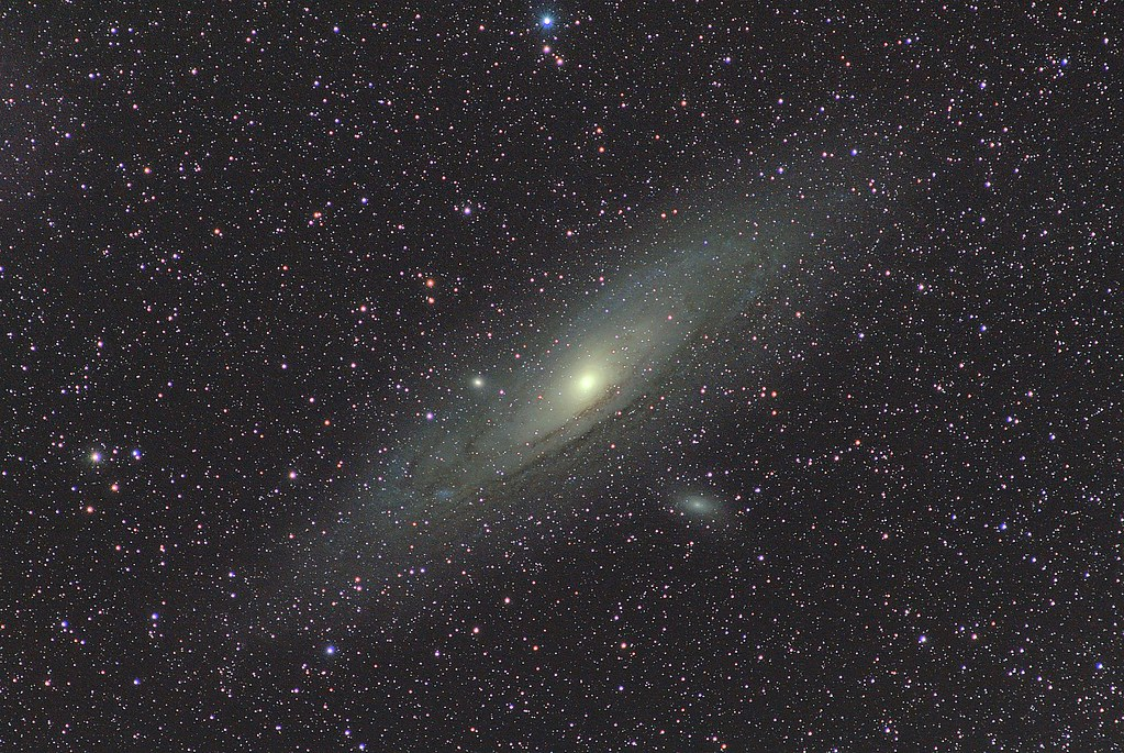 Andromeda Galaxy (M31) and satellites (M32, M110) | This