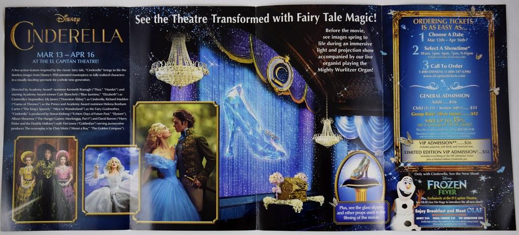 Disney Cinderella at the El Capitan Theatre - Promo Brochu… | Flickr
