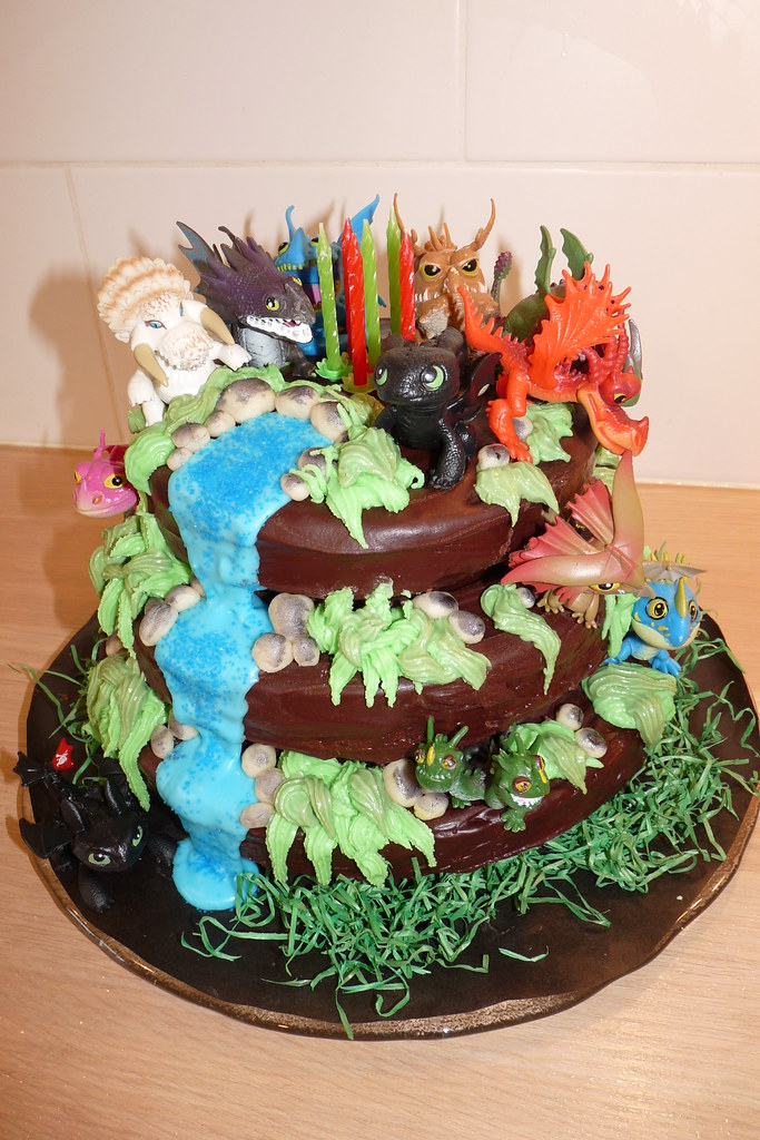 Excellent How To Train Your Dragon Birthday Cake Made By Me 6Th Bir Flickr Personalised Birthday Cards Veneteletsinfo