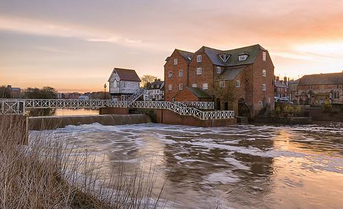 light sunrise landscape dawn nikon cotswolds gloucestershire watermill tewkesbury riveravon d610 jactoll nikonfxshowcase