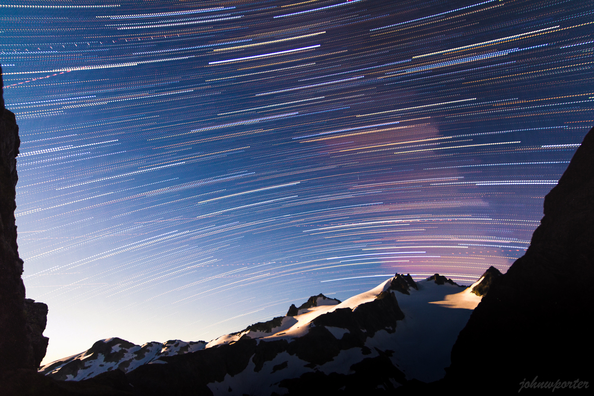Star trails over Dip Top Gap