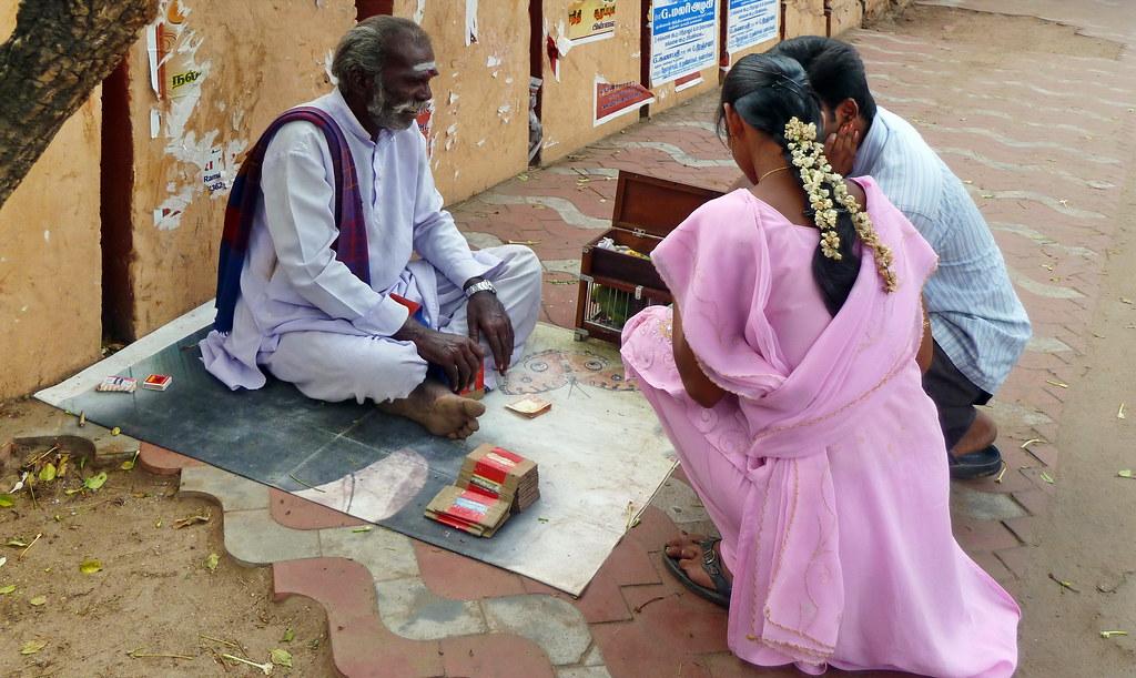India - Tamil Nadu - Thanjavur - Fortune Teller With Parro