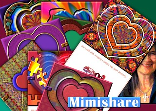 New me, new heart card printables for any time a la Mimishare