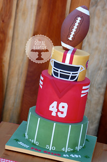 Cool 49Ers Football Cake Lesley Wright Flickr Funny Birthday Cards Online Overcheapnameinfo