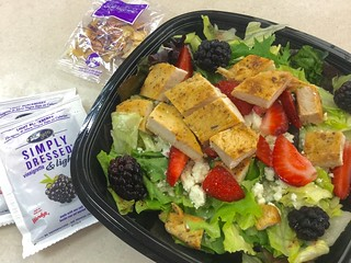 Wendy's Summer Berry Salad, 7/2016, pic by Mike Mozart of TheToyChannel and JeepersMedia on YouTube #Wendys #Salad   by JeepersMedia