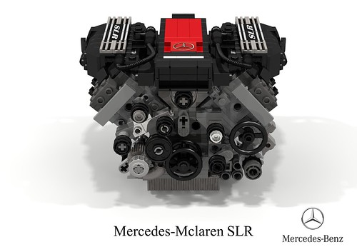 Mercedes-Mclaren SLR Stirling Moss Edition + UCS 5.4L V8 Supercharged Engine