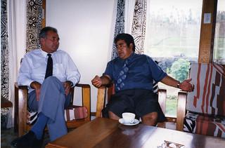 Sir Don McKinnon & Hon Tuilaepa Sailele Malielogaoi - 1992