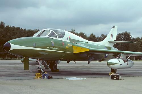 XE531 Hunter T12 RAE, MOD(PE) Farnborough. IAT 76 | by Stuart Freer - Touchdown Aviation