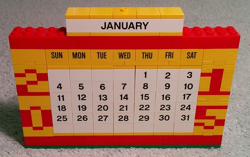 Improved LEGO Calendar Front | by Bill Ward's Brickpile