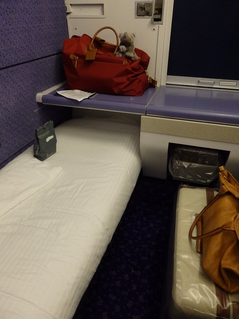 My sleeper compartment on the Caledonian Sleeper