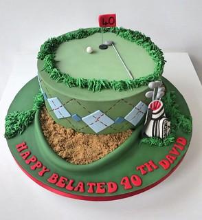 40th Golf Themed Birthday Cake