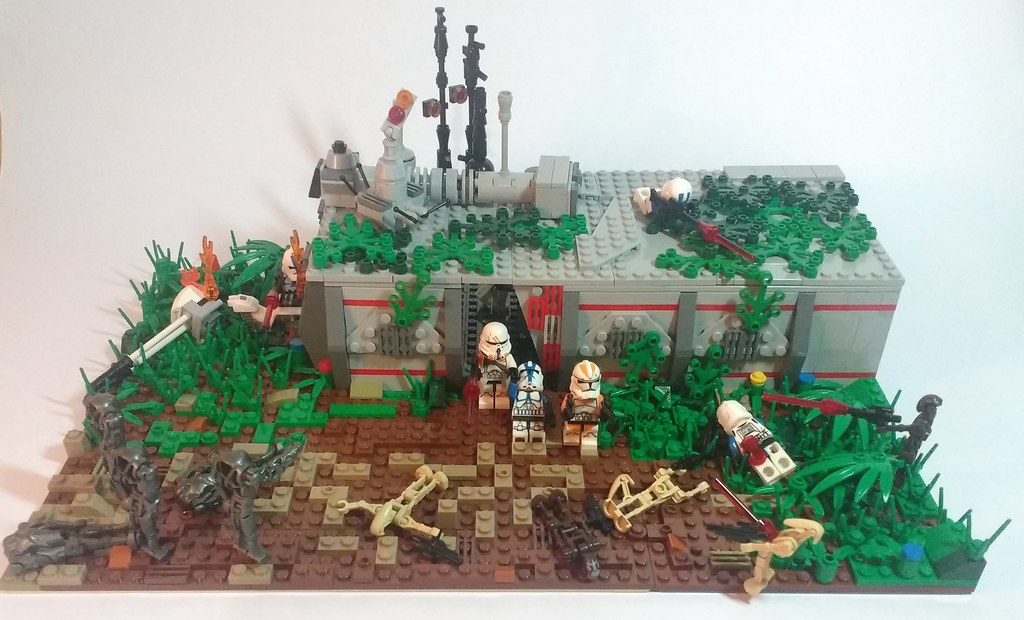 Lego Star Wars Moc Abandoned Clone Base Hey Guys On This Flickr