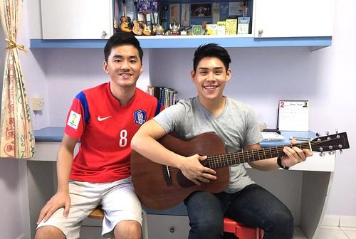 Adult guitar lessons Singapore John
