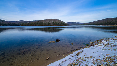 statepark park travel blue winter usa lake snow nature reflecting nikon pennsylvania michaux