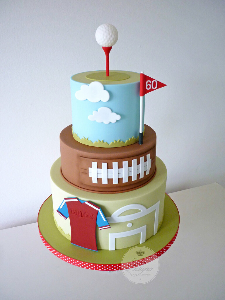 Wondrous Sports Themed Birthday Cake Isabelle Bambridge Flickr Funny Birthday Cards Online Alyptdamsfinfo
