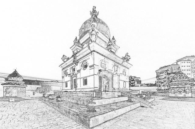 Nepal - Patan - Temple - 150c