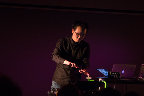 'Live Performance for Leapmotion and 4ch Speakers' Jonghyun Kim NIME 2016 | by johnrobertferguson