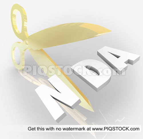 NDA Non Disclosure Agreement Scissors Cutting Letters Acronym | by piqstock