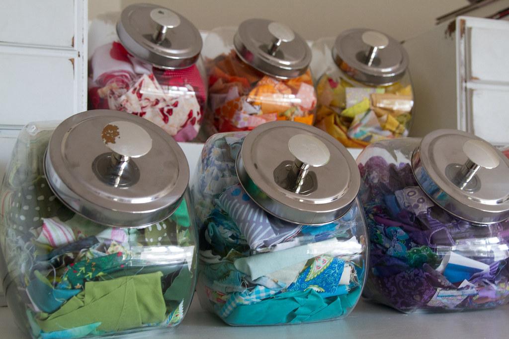 Penny Candy Jar - Fabric Scrap Storage Organization