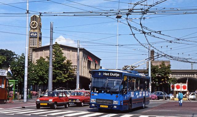 GVA 142 stationsplein Arnhem  21 augustus 1986
