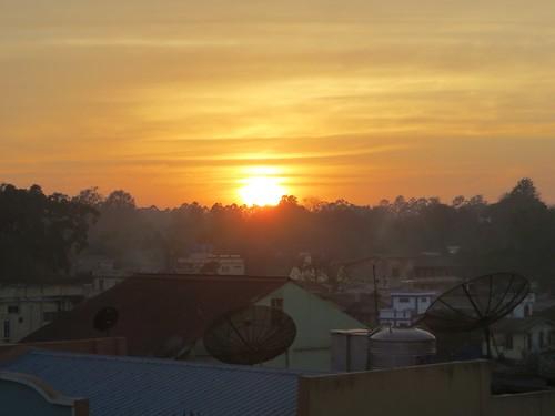 sunset myanmar hsipaw