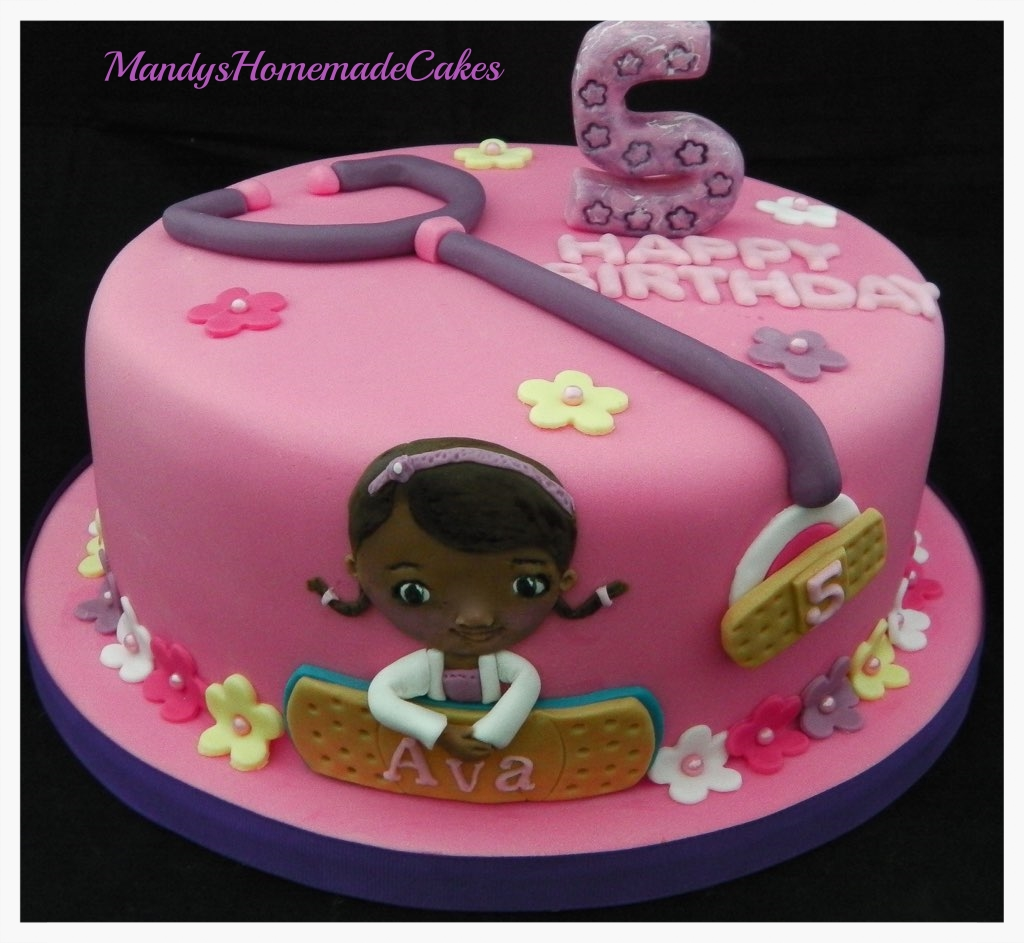 Fabulous Doc Mcstuffins Birthday Celebration Cake Mandys Homemade Cakes Birthday Cards Printable Nowaargucafe Filternl
