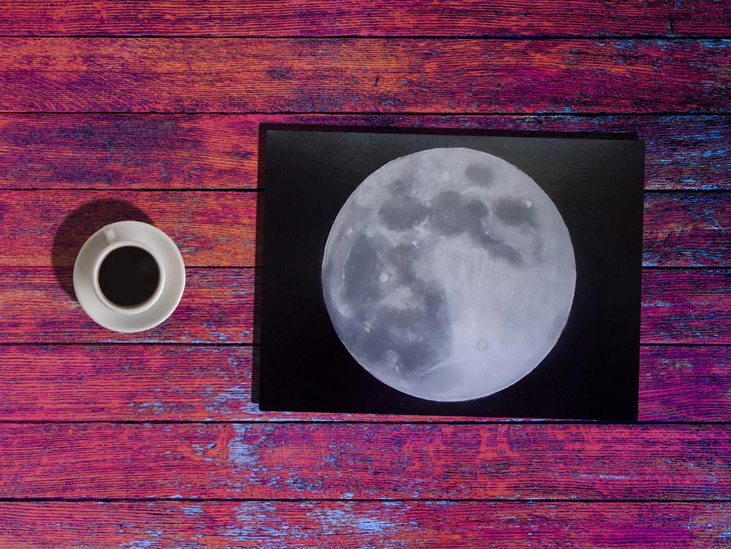 Full Moon - Acrylic Painting   Ester   Flickr