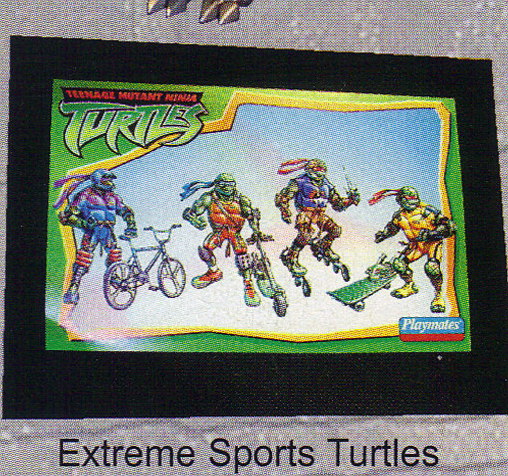 "LEE'S TOY REVIEW #xx, pg. 32 / ""TOY FAIR 2003 DECLASSIFIED"", TMNT - 2k3 Waves 2-4 peek; 'EXTREME SPORTS TURTLES' designs by Michael Dooney  (( xx, 2003 )) by tOkKa"