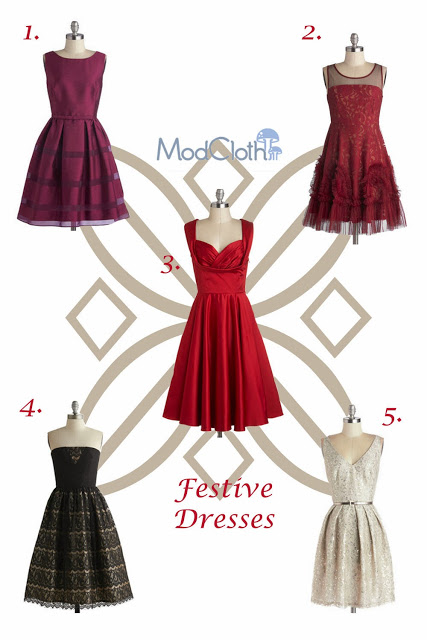 I'm in love with Modcloth festive party dresses