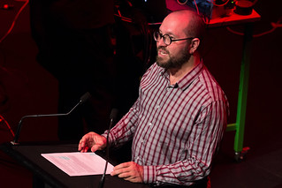 Dr Toby Gifford introduces a concert at NIME 2016 | by johnrobertferguson