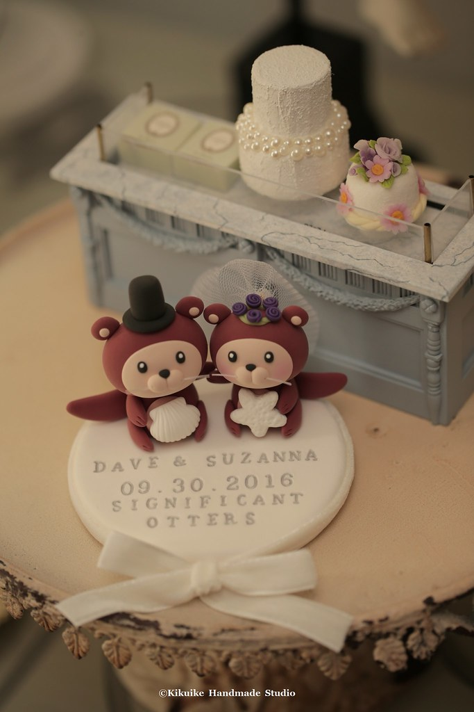 Otter Ocean Theme Wedding Cake Topper Www Etsy Com Hk En L